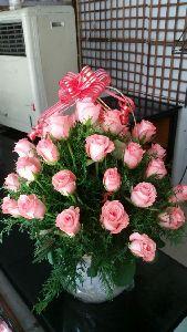 Rose Basket Bouquet