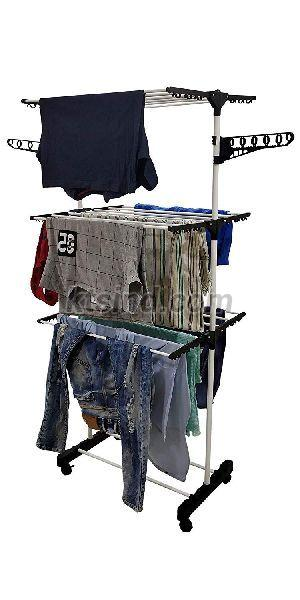 Single Pole 3 Tier Cloth Drying Stand (Black)