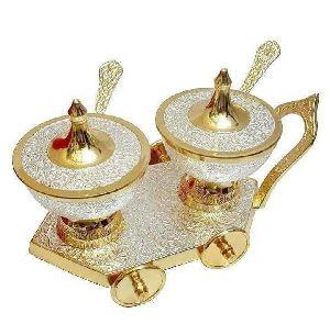 Brass Spice Bowl Set