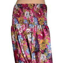 Silk Multicolor Girl Harem Pant Trouser