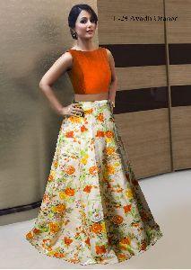Orange Bride Lehangas