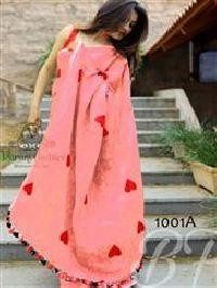 A Red Trendy Function Wear Cotton Chanderi Saree