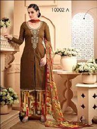 Brown Designer Plazo Suit