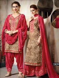 Brown Designer Patiala Suit