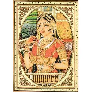 Rajasthani Lady Tanjore Paintings
