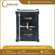 Black Colored Small Size Heavy Container Style Cabinet
