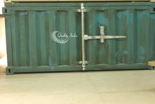 Heavy Metallic Two Doors Container Style Cabinet