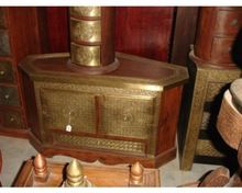 Wooden And Brass Carved Designed Storage Trunks