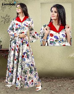 Cotton Digital Print Gown