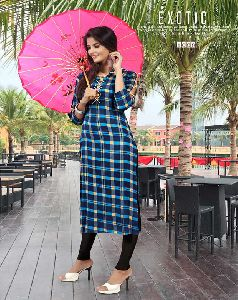 Fancy Reyon Long Kurti