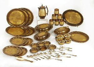 Brass Dinner Set