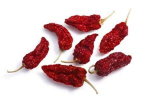 Dried Bhut Jolokia (ghost Pepper)