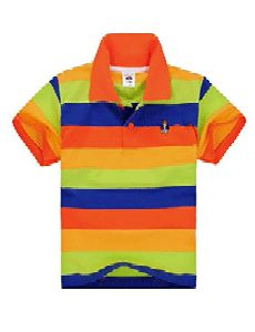 Kids Yarn Dyed Polo T Shirt