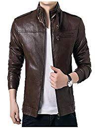 Sid Mens Long Chestnut Brown Lambskin Leather Jacket, Biker Jacket