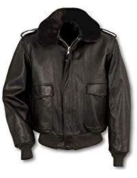 Mens Lambskin Black Leather Bomber Jacket