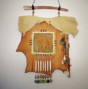 wall hanging leather skin