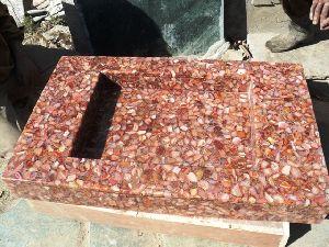 Red Chameleon Square Wash Basin