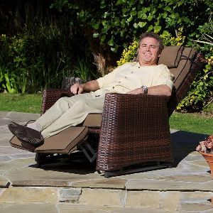Outdoor Wicker Recliners Chair