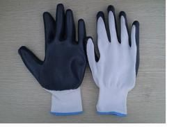 Grey Nitrile Coated Hand Gloves