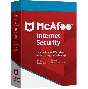 Mcafee Internet Security 1 User 1 Year Email Delivery