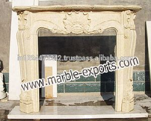 Stone White Marble Fireplace