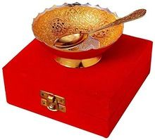 Gold Silver Plated Brass Bowl Set Dining Set
