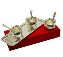 Pure Silver Plated Snack Bowl Set