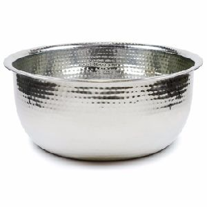 Silver Metal Decorative Bowl
