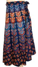 Handmade Block Printed Cotton Wrap Skirt