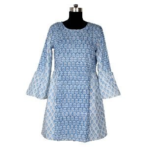Hand Block Cotton Women Dress