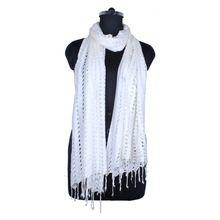 Hand Knit Rayon Net Scarf