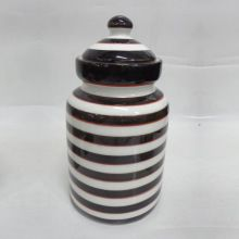 Designer Ceramic Round Jar with lid