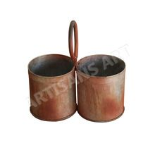 Old Antique Iron Handcrafted Pot