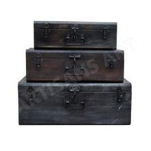 Rustic Antique Nesting Storage Box Set Of Three