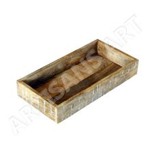 Rustic White Washed Solid Mango Wood Tray
