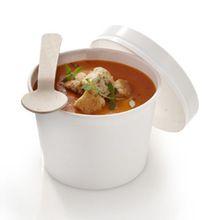 Paper Soup Bowl with Plastic Lid