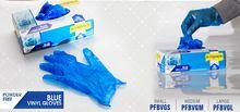 Powder free Blue Vinyl Gloves