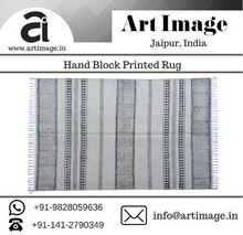 Indian Hand Woven Cotton Carpet Rug