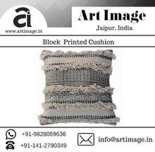 Shaggy Hand Block Printed Cushion Covers