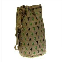 Printed Jute Duffle Bag