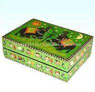 Painted Wooden Decorative Jewelery Box