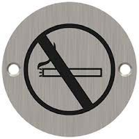 No Smoking Stainless Steel Sign Board