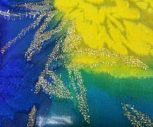 Silk velvet hand painted