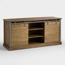 Wood Barn Door Storage Cabinet