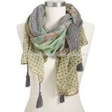Lady Fashion Scarves Shawls With Tassels