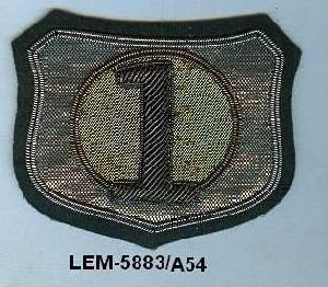 Bullion Embroidered Badges
