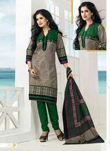 Designer Printed Cotton With Cotton Dupatta