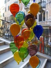 Antique Colorful Hanging Glass Balloons Silver