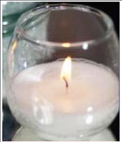 Rolly Polly Glass Jar Candle Holder