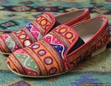 Embroidery Leather Ladies Shoes